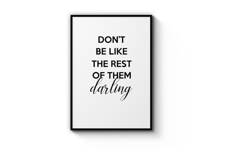 """""""Darling"""" Quote Wall Art"""