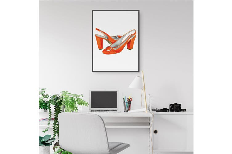 Cute Orange Heels Wall Art
