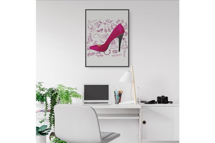 Cute Red Heels Wall Art