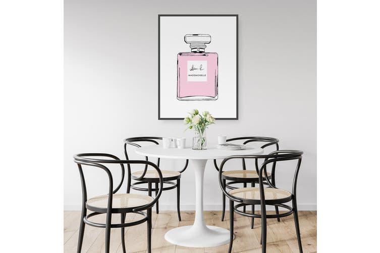 Pink Minimal Perfume Bottle Wall Art