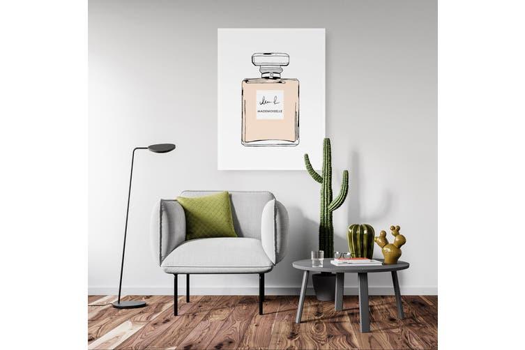 Peach Minimal Perfume Bottle Fashion Wall Art