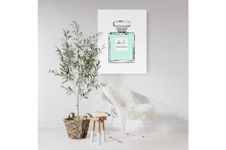 Green Minimal Perfume Bottle Wall Art