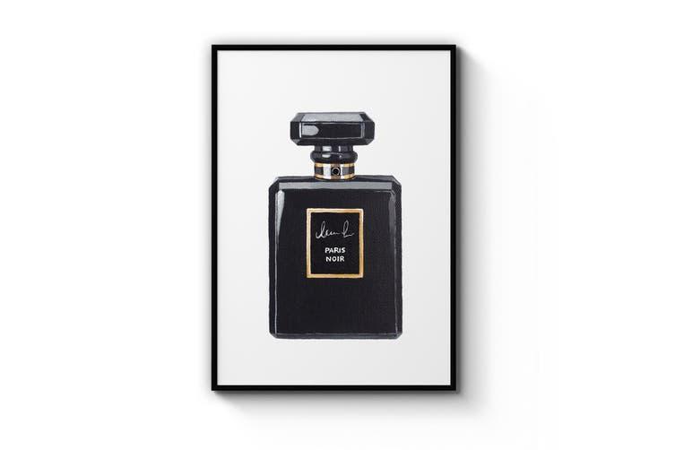 Black Perfume Bottle Wall Art
