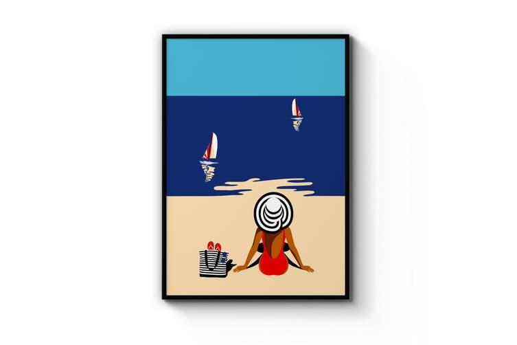 Retro Summer Beach Wall Art