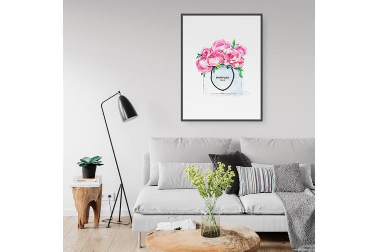 Pink Floral Shopping Wall Art