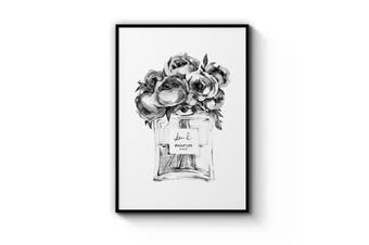 Black and White Perfume Bottle Wall Art
