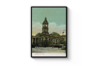 Town Hall, Melbourne - Vintage Painting Wall Art