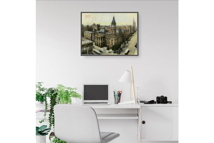 Town Hall, Melbourne Vintage Painting Wall Art