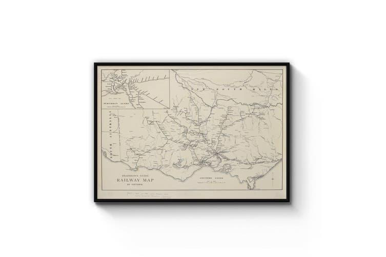 Vintage Railway Map of Victoria (1884) Wall Art