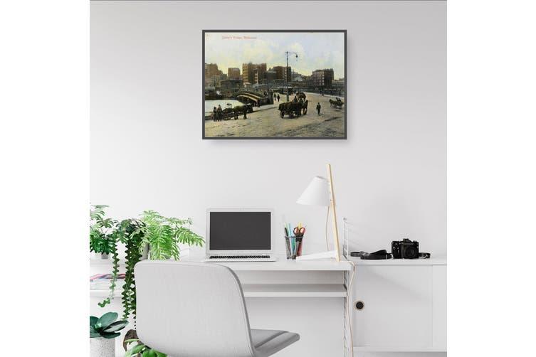 Queens Bridge, Melbourne - Vintage Wall Art