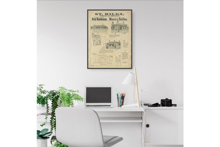 St Kilda Melbourne Vintage Real Estate Advert Art