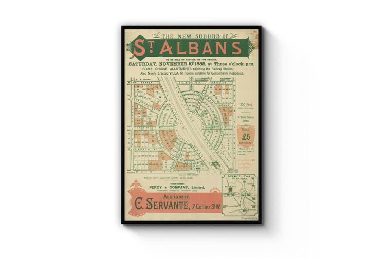 St Albans - Vintage Real Estate Advert Wall Art