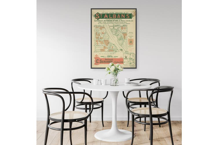 St Albans - Vintage Real Estate Advert Wall Art