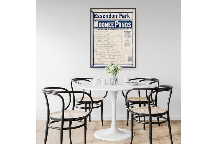 Essendon Park, Moonee Ponds - Vintage Real Estate Advert Wall Art