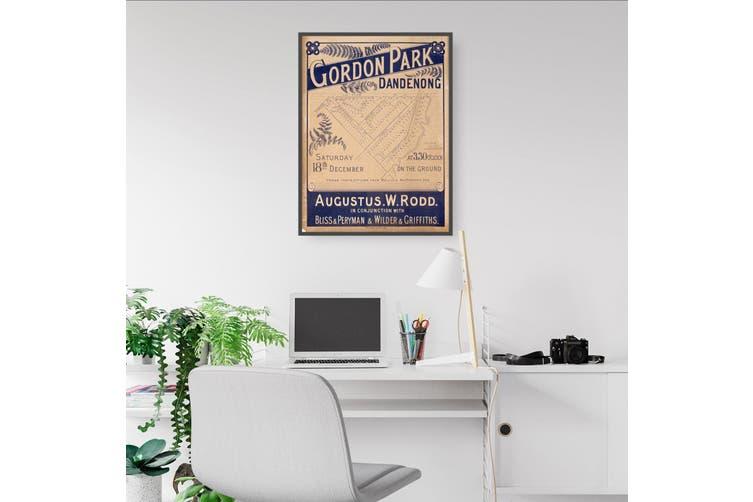 Dandenong, Gordon Park - Vintage Real Estate Advert Wall Art
