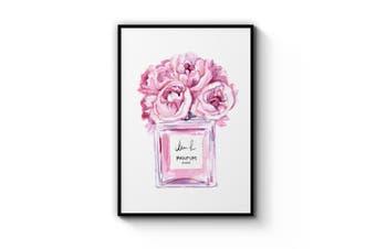Pink Perfume Bottle Wall Art