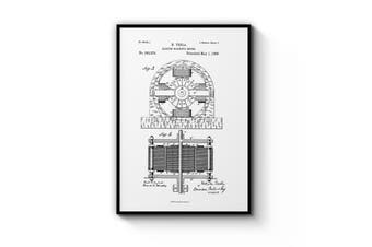 Electro Motor Patent Wall Art