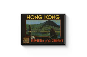 Hong Kong Riviera Advert Wall Art