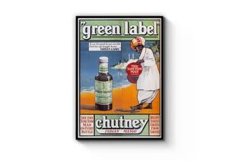 Green Label Indian Chutney Advert Wall Art