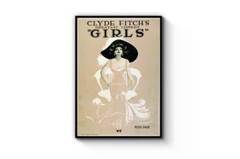 Girls Broadway Vintage New York Advert Wall Art