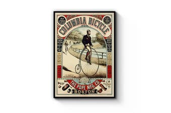 Columbia Bicycle Advert Wall Art