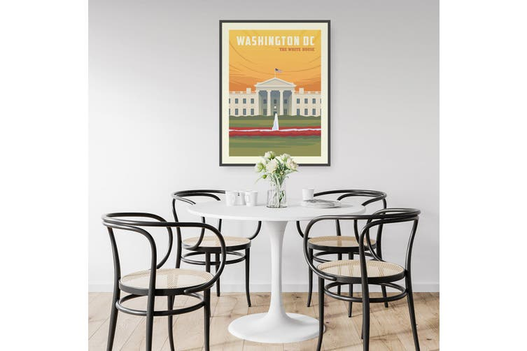 Retro Washington DC USA Vintage Travel Wall Art
