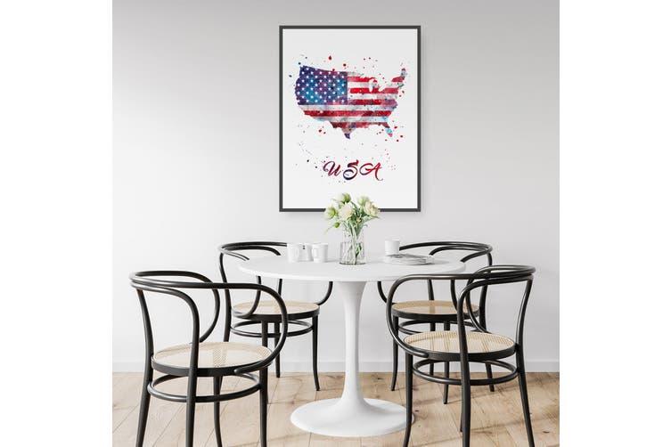 USA Map Wall Art