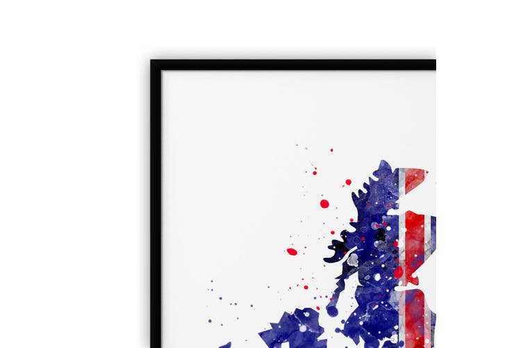 Great Britain Map Wall Art