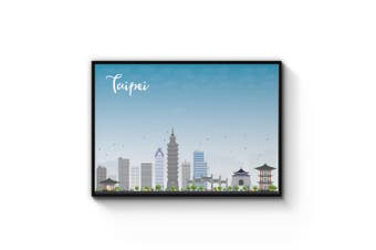 Taipei City Cityscape Wall Art