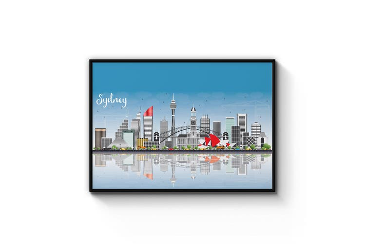 Sydney City Cityscape Wall Art