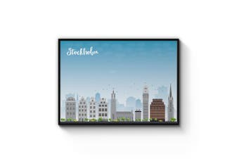 Stockholm City Cityscape Wall Art