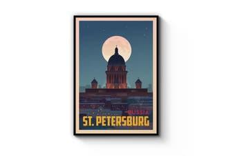 Retro St Petersburg Wall Art