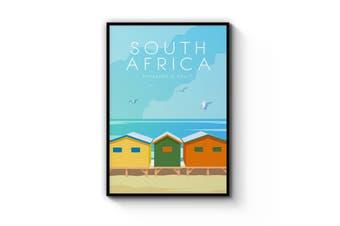 Retro Muizenberg Beach, South Africa Wall Art