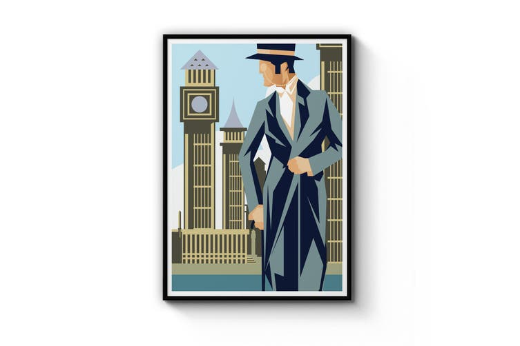 Retro London Wall Art