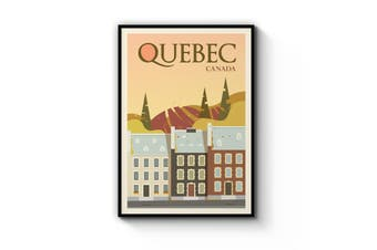 Retro Quebec Wall Art