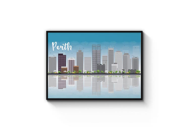 Perth City Cityscape Wall Art