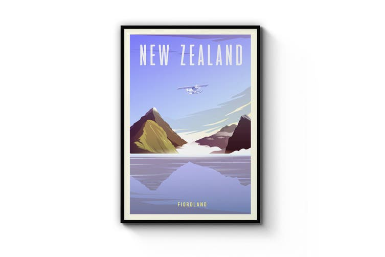 Retro New Zealand Wall Art