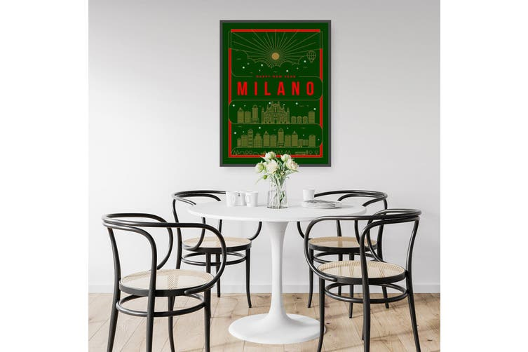 Minimal Milan Italy Travel Sign Wall Art