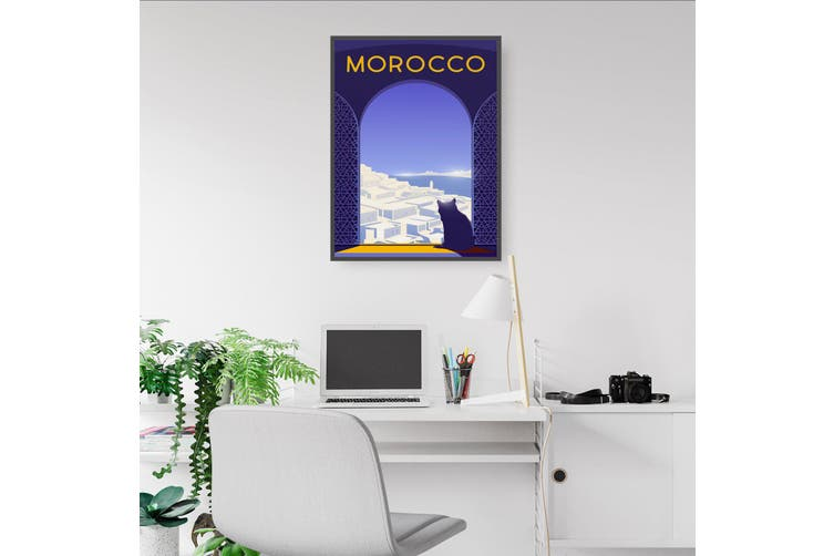 Retro Morocco Africa Travel Vintage Wall Art