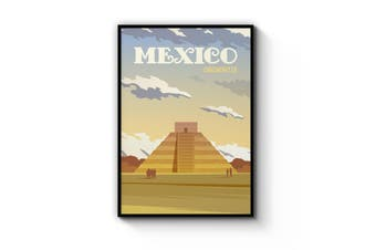 Retro Chichen Itza, Mexico Wall Art
