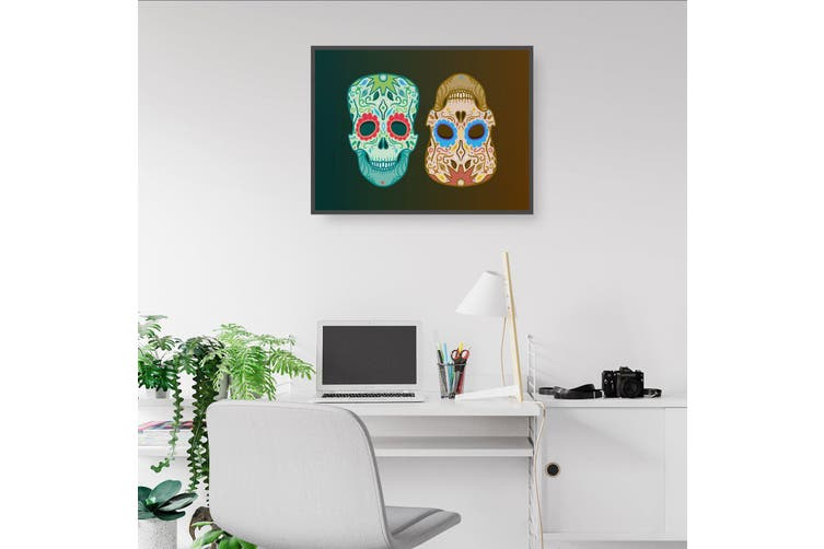 Mexican Day of the Dead Skulls Wall Art