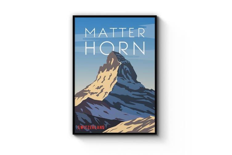 Retro Matterhorn, Switzerland Wall Art