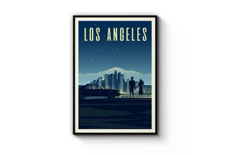 Retro Los Angeles California Travel Vintage Wall Art