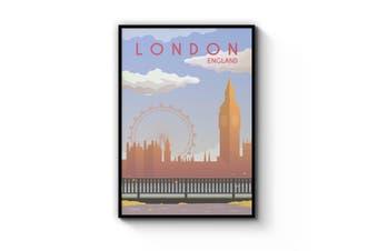 Retro London, England Wall Art