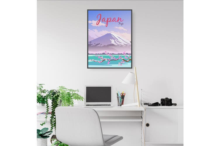 Retro Fuji, Japan Wall Art
