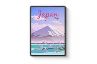 Retro Fuji, Japan Wall Art
