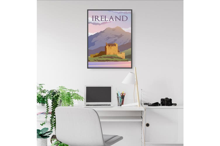 Retro Ireland European Travel Vintage Wall Art