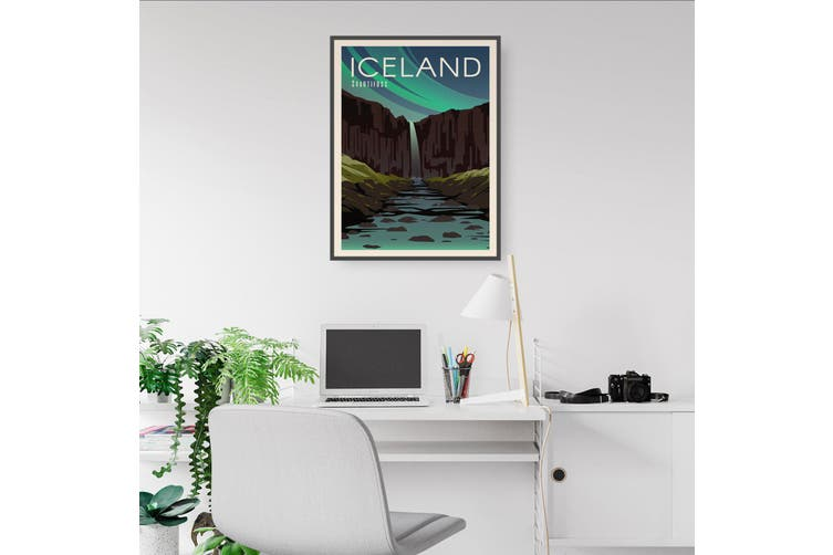 Retro Iceland European Travel Vintage Wall Art