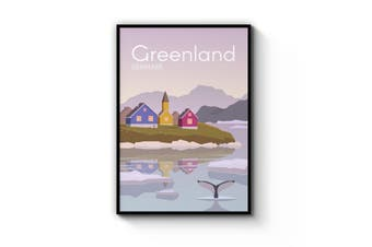 Retro Greenland, Denmark Wall Art
