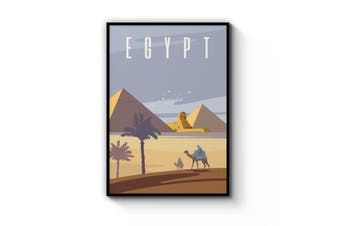 Retro Pyramids Egypt World Travel Vintage Wall Art